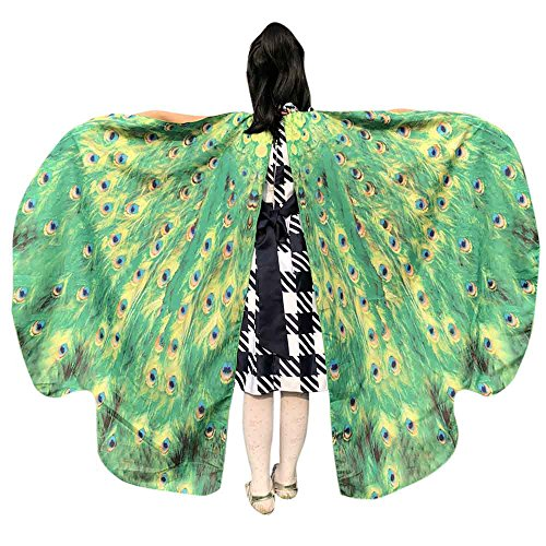 - QueenMMWomen Butterfly Wings Shawl, Wintialy Scarves Ladies Nymph Pixie Poncho Costume