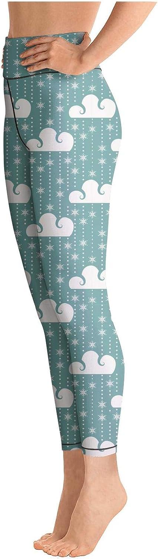 Medssii Lady Christmas Mistletoe Santa Deer Green Yoga Pants High Waist Yoga Leggings with Pockets