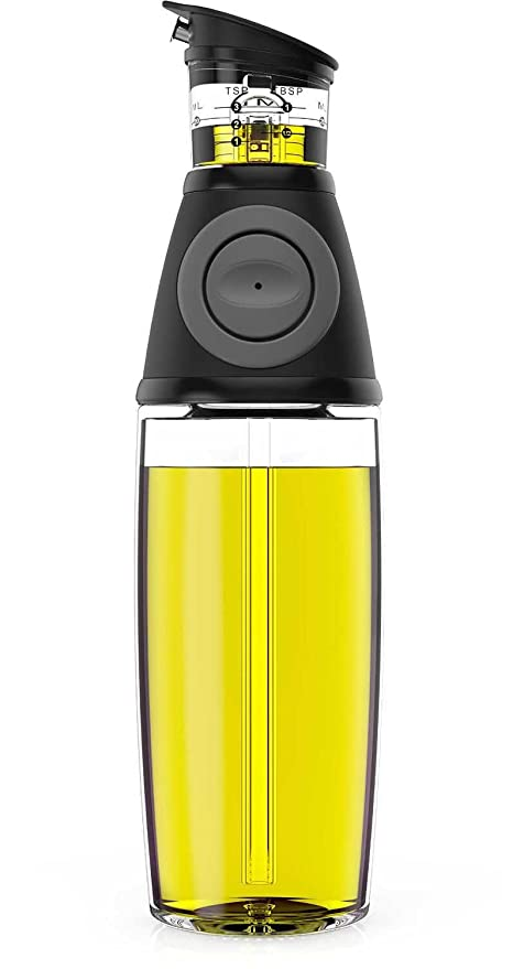 Qkfly Oil and Vinegar Dispenser 500ml Glass Bottle for Kitchen with No Drip Pouring Spout that