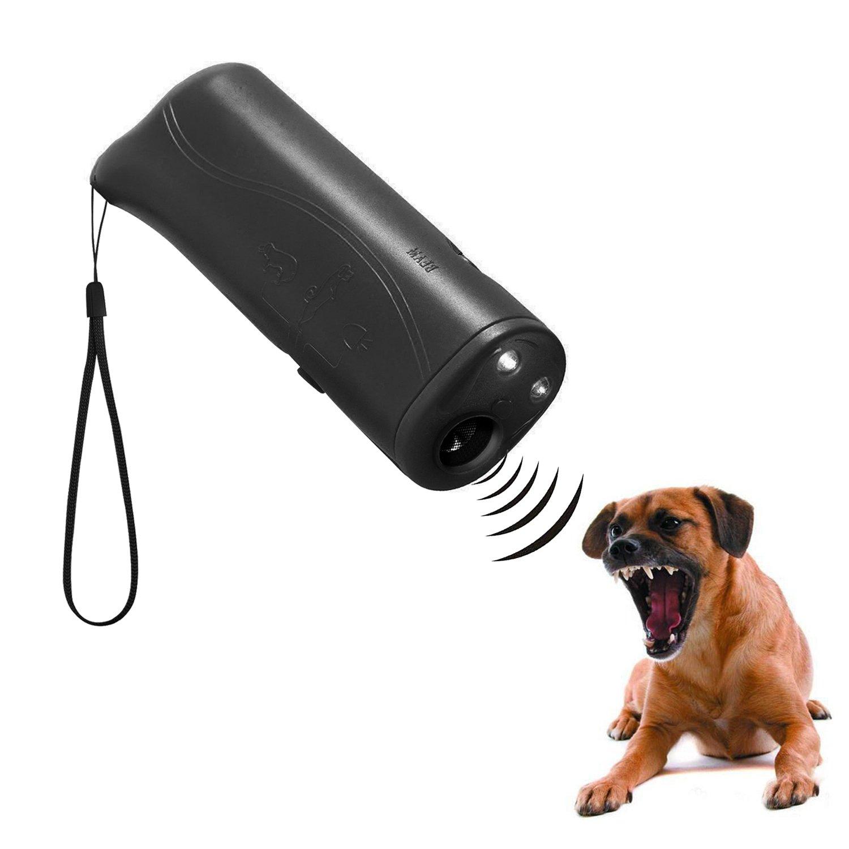 WIRSV LED à ultrasons Répulsif pour Chien, 3en 1à ultrasons pour Animal Domestique Répulsif Anti aboiement Stop Barking Dog Training Contrôle Répulsif à Trainer ZHDL