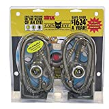 Cat's Eye Tire Pressure Maintenance System Dual Trucks Trailer 100PSI 2pk SSteel
