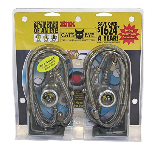 (Cat's Eye Tire Pressure Maintenance System Dual Trucks Trailer 105PSI 2pk)