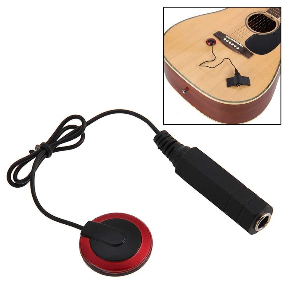 Corazón servicio universal Pickup Piezo Contacto Micrófono Pickup Piezoeléctrico Pickup transductor para guitarra Instrumento Musical Piezas Heart Service