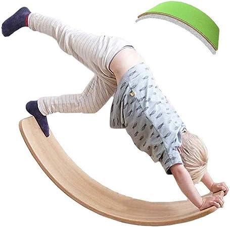 Ywlgrx Planche De Yoga Pour Enfants Pour Enfants Curvy Board Tableaux D Equilibre En Bois Waldorf Planche D Equilibre Wobble Avec Feutre Comme Balancoire Bateau Bascule Toboggan Table Equilibrage Amazon Fr Cuisine Maison