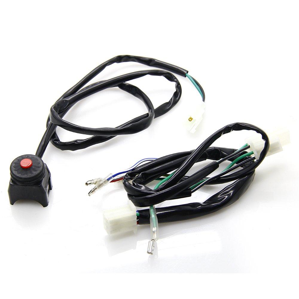 Wire Harness Wiring Loom Cdi Ignition Coil Spark Plug Rebuild Kit Wireloom 50cc 110cc 125cc Atv Quad Bike For 70cc 90cc Stator Buggy Go Kart Gw