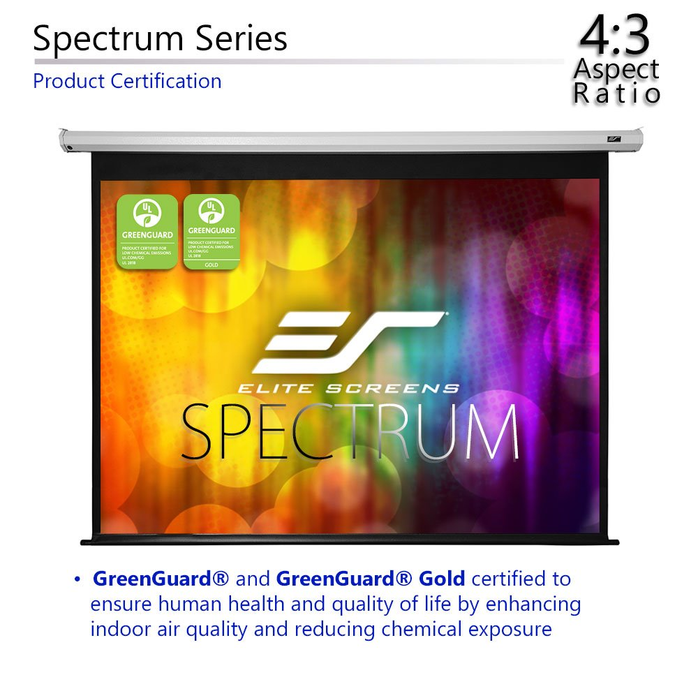 Amazon.com: Elite Screens Spectrum, 84-inch Diag 4:3, Electric Motorized  4K/8K Ready Drop Down Projector Screen, ELECTRIC84V: Home Audio & Theater