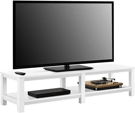 Mainstay Parsons Tv Stand For Tvs Up To 65 White Furniture Decor