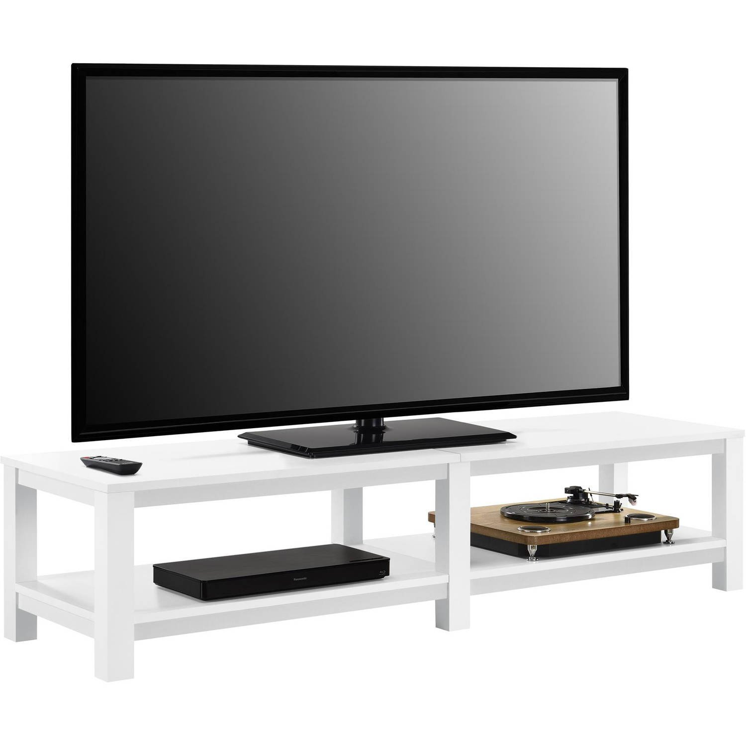 Amazon Com Mainstay Parsons Tv Stand For Tvs Up To 65 White