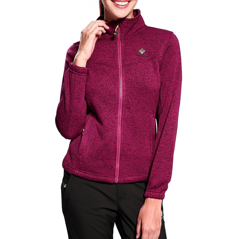 Camel Women's Windproof Full-Zip Fleece Jacket