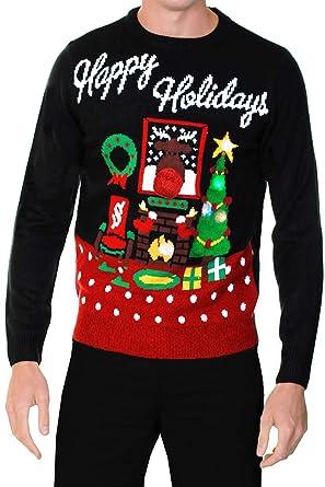 Adults Threadbare Novelty Light Up Christmas Jumpers: Amazon.co.uk ...