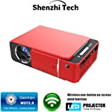 ShenzhiTech Mini Projector Portable 1080p LED Projector,Home Video Projector with 300in Display Widescreen Compatible with AV,VGA,USB,HDMI for Home Theater, Outdoor Activities and More
