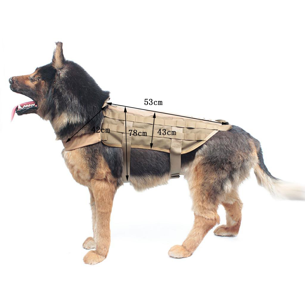 petsola Entrenamiento Militar Molle Service Arneses para Perros ...