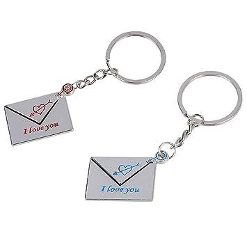 TOOGOO(R) Cadena de llave Llavero icono del mensaje patron ...