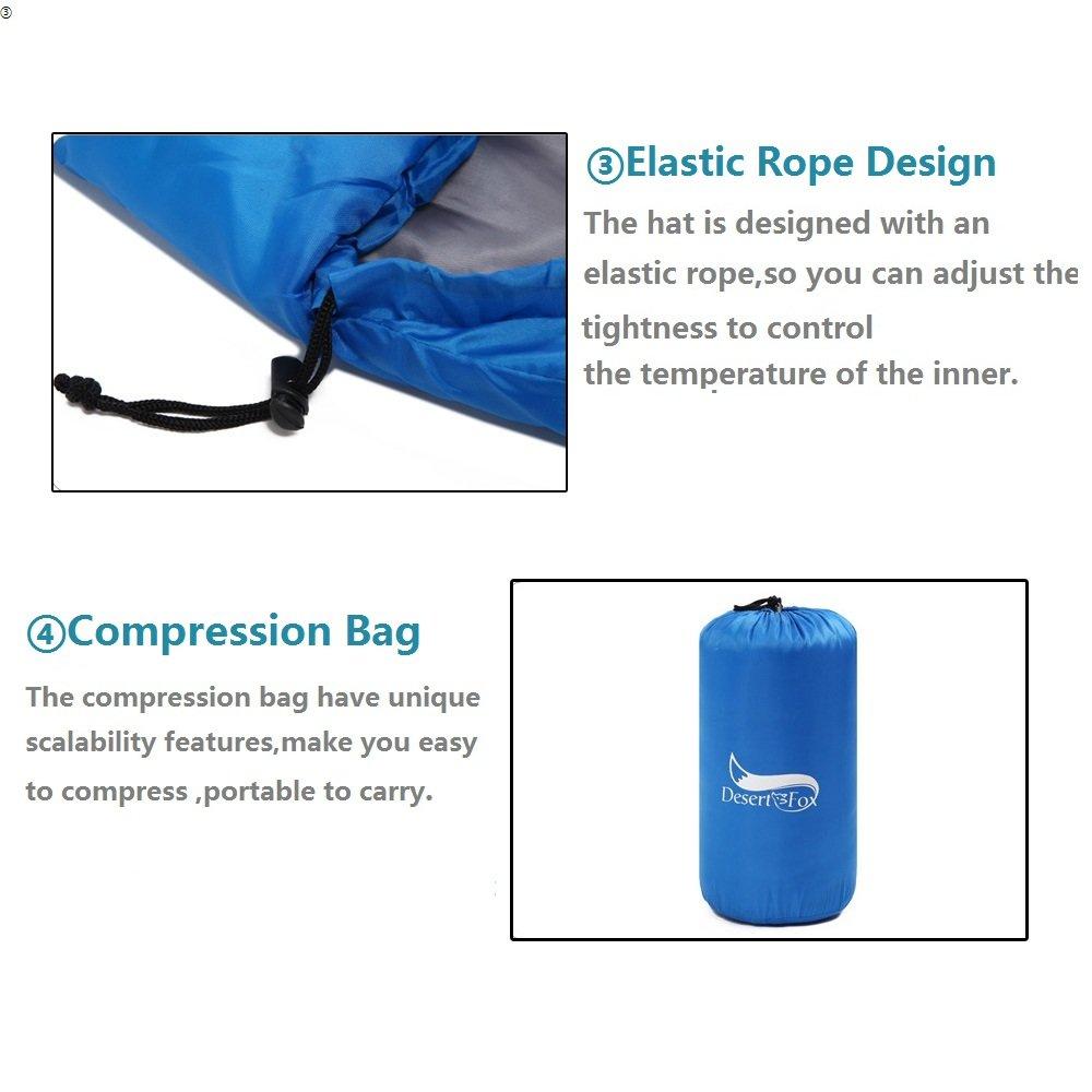 Saco de Dormir 190T Poliéster Resistente a la Humedad, Ligero y Portátil, Ideal para 3-4 Estaciones, Perfecto para Camping, Siesta o Oficina, Forma de momia ...