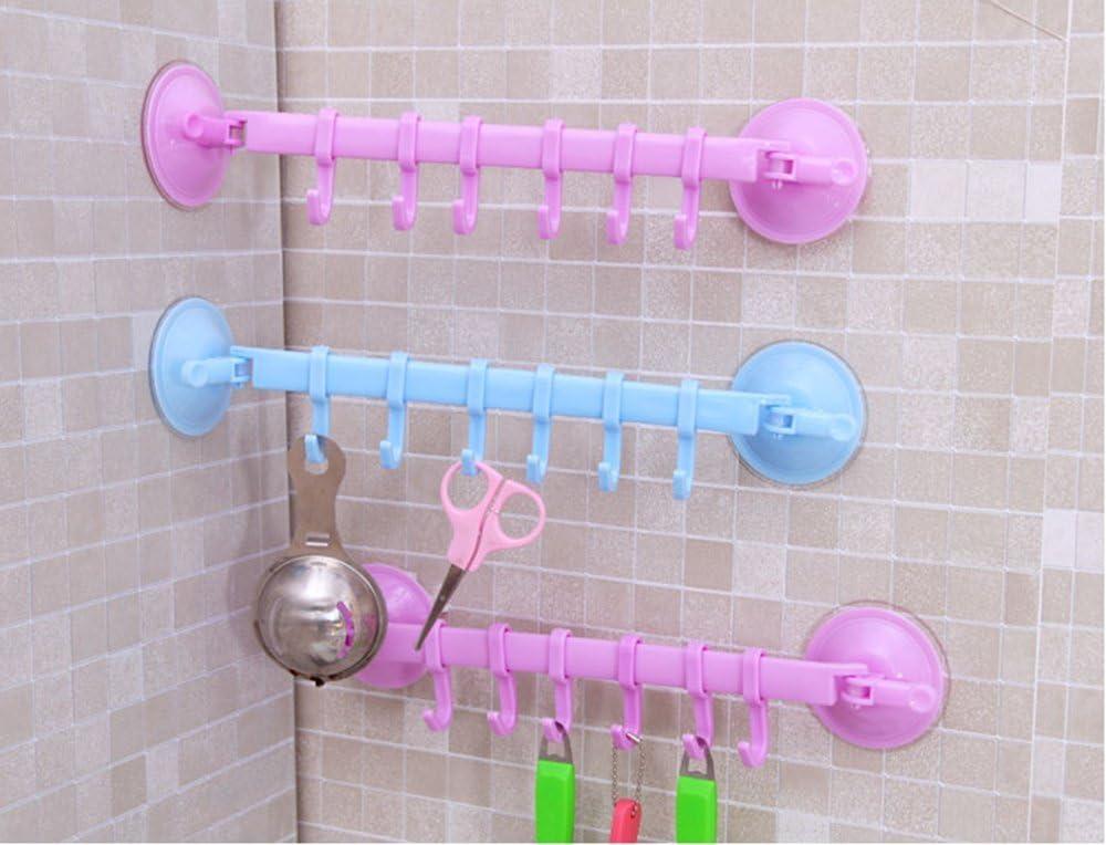 caolator ganchos multiusos Barra de soporte de utensilios de cocina 6/ganchos