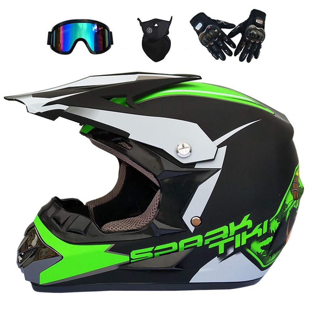 7 Stile GNB Motocross Casco Fuoristrada Moto Dirt Bike//MX//ATV//DOT//ECE Scooter Mountain Moto Quad Motocross Enduro Sport Casco//Guanti//Occhiali//Maschera