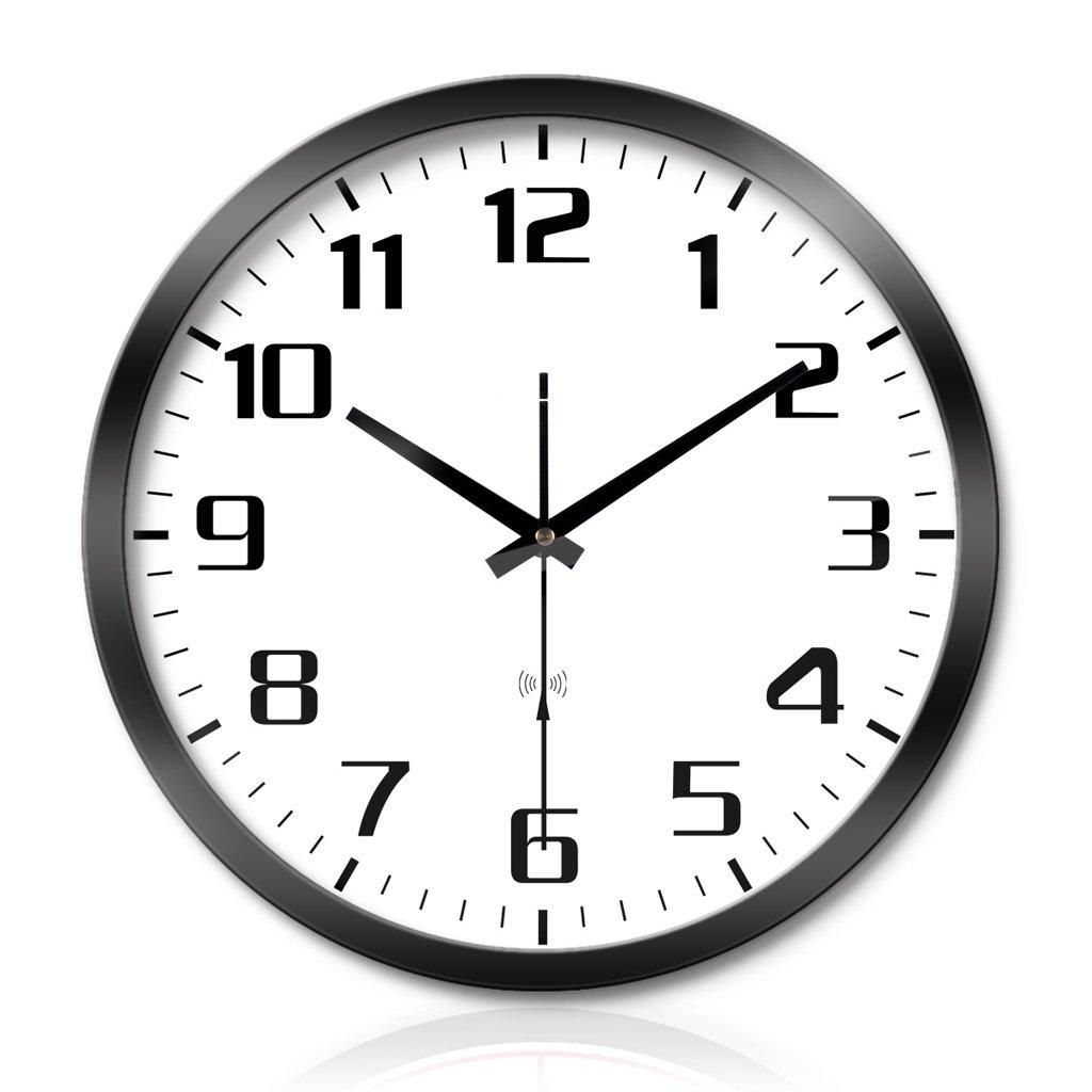 クリエイティブなリビングルームのベッドルームの金属壁の時計ミュートスキャンスマート電気時計の壁時計 LCS (色 : スタイル すたいる-Black, サイズ さいず : 16 inches) B07FC9R9NZ 16 inches スタイル すたいる-Black スタイル すたいる-Black 16 inches