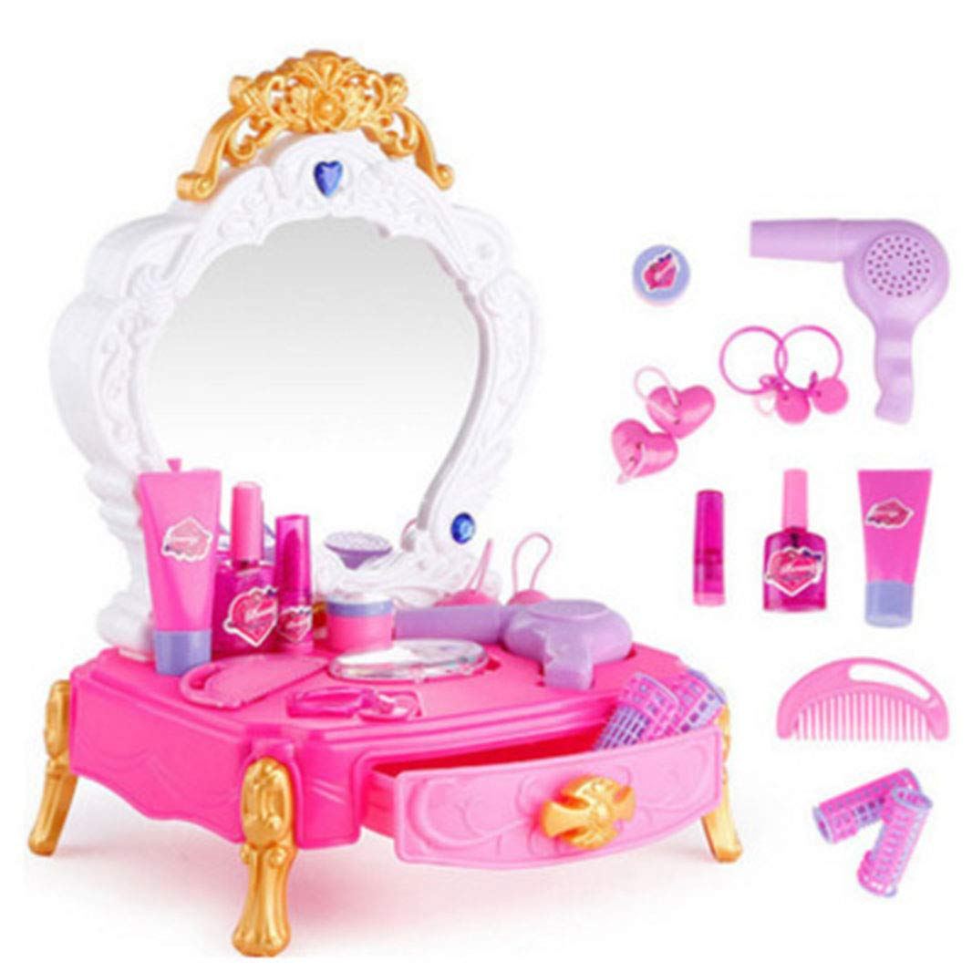 C360 Pretend Princess Girls Vanity Table Beauty Play Set with Fashion & Makeup Accessories for Girls
