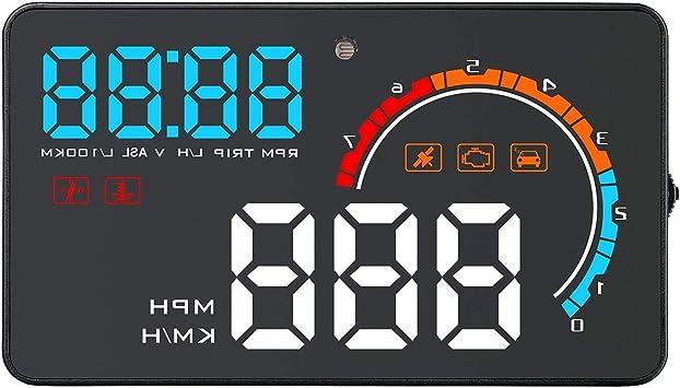 D2500 Auto Hub Obd2 Gps Head Up Display Auto Geschwindigkeit Projektor Fahrzeug Windschutzscheibe Navigation Obd Tachometer Auto