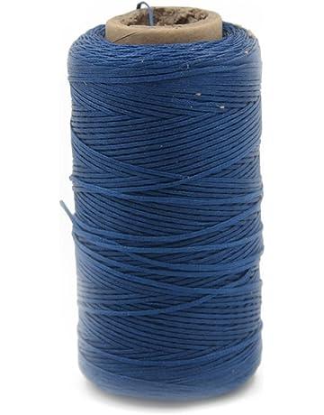 Cordón encerado cera para hacer pulsera de cuero del arte de 285 yardas carrete de lino