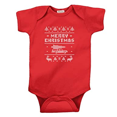 Amazoncom Merry Christmas Funny Ugly Sweater Shitters Full Infant