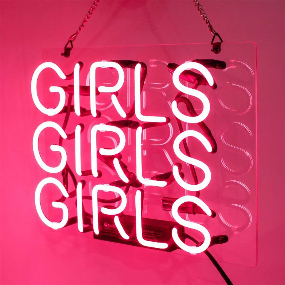 Neon Lights Signs, Girls Decor of Beer Bar Bedroom LivingRoom GameRoom Showcase Real Glass Pure Hand Curved 11.5x9.5 inches by CAICAIDUO (Image #3)