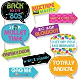 Funny 80s Retro - Photo Booth Props Kit - 10 Piece