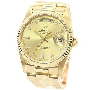ロレックス ROLEX デイデイト 金無垢 10PD 18238A/S番 腕時計 イエローゴールド メンズ 自動巻き シャンパンゴールド文字盤 [中古]