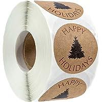 Kerststickers, ronde etiketten Merry Christmas, cadeaustickers, stickers voor Kerstmis, enveloppen, cadeauzakjes…