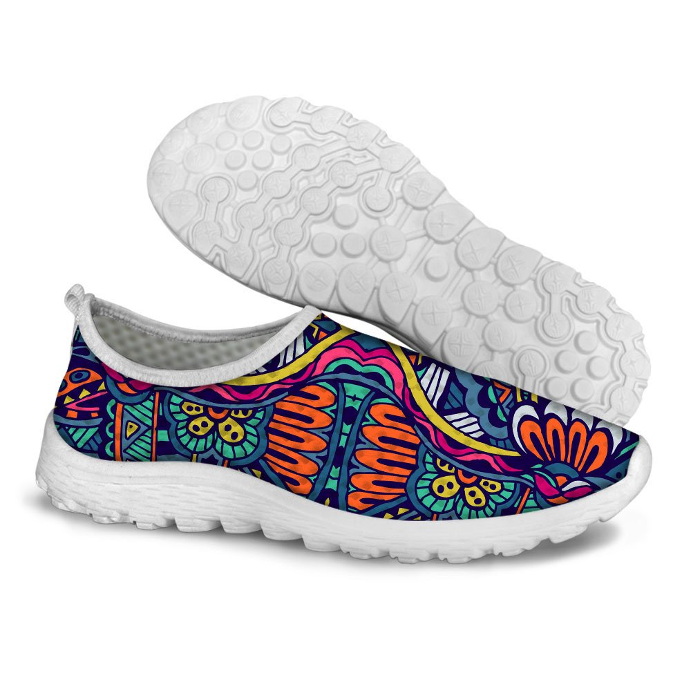 FOR U DESIGNS Retro Ethnic Style Women's Lightweight Mesh Tennis Running Shoes Size 10