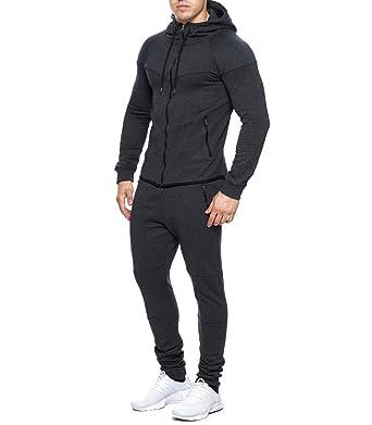 MonsieurMode - Ensemble Jogging Fashion Homme Survêtement 667 Gris foncé -  XXL - Gris 113e289e194a
