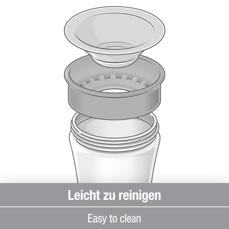NUK Snow Magic Cup Gobelet en silicone anti-fuite avec bord /à 360 /° 8 mois Bleu 230 ml