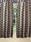 Mogulinterior Spanish Tulips Curtain Window Panel Brown Tab Top Length 96