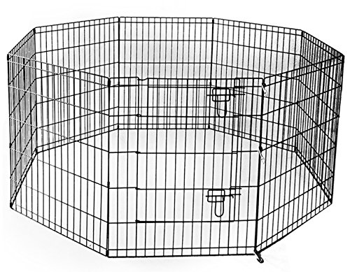 Wirezoll 24 inch Pet Dog Playpen Exercise Pen 8-Pannel