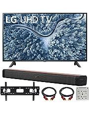 $579 » LG 50 Inch UP7000 Series 4K LED UHD Smart webOS TV (2021 Model) Bundle with Deco Home 60W 2.0 Channel Soundbar, 37-70 inch TV Wall Mount Bracket Bundle and 6-Outlet Surge Adapter