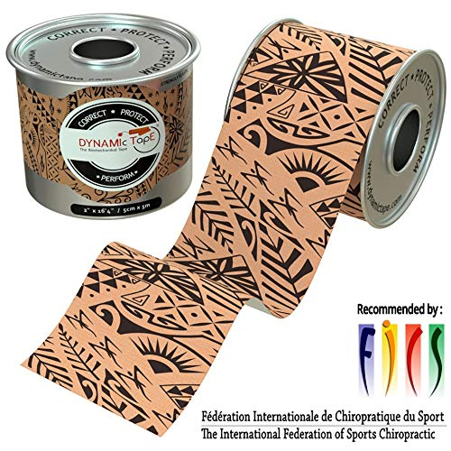 Dynamic Tape Black Biamechanical, 2 inches by 16.4 feet, Therapeutic, Sports, Clinician Designed for Performance Fitness Athletes, Protect & Assist Motion, Injury Recovery, Hypoallergenic & Latex - Effect Dynamic