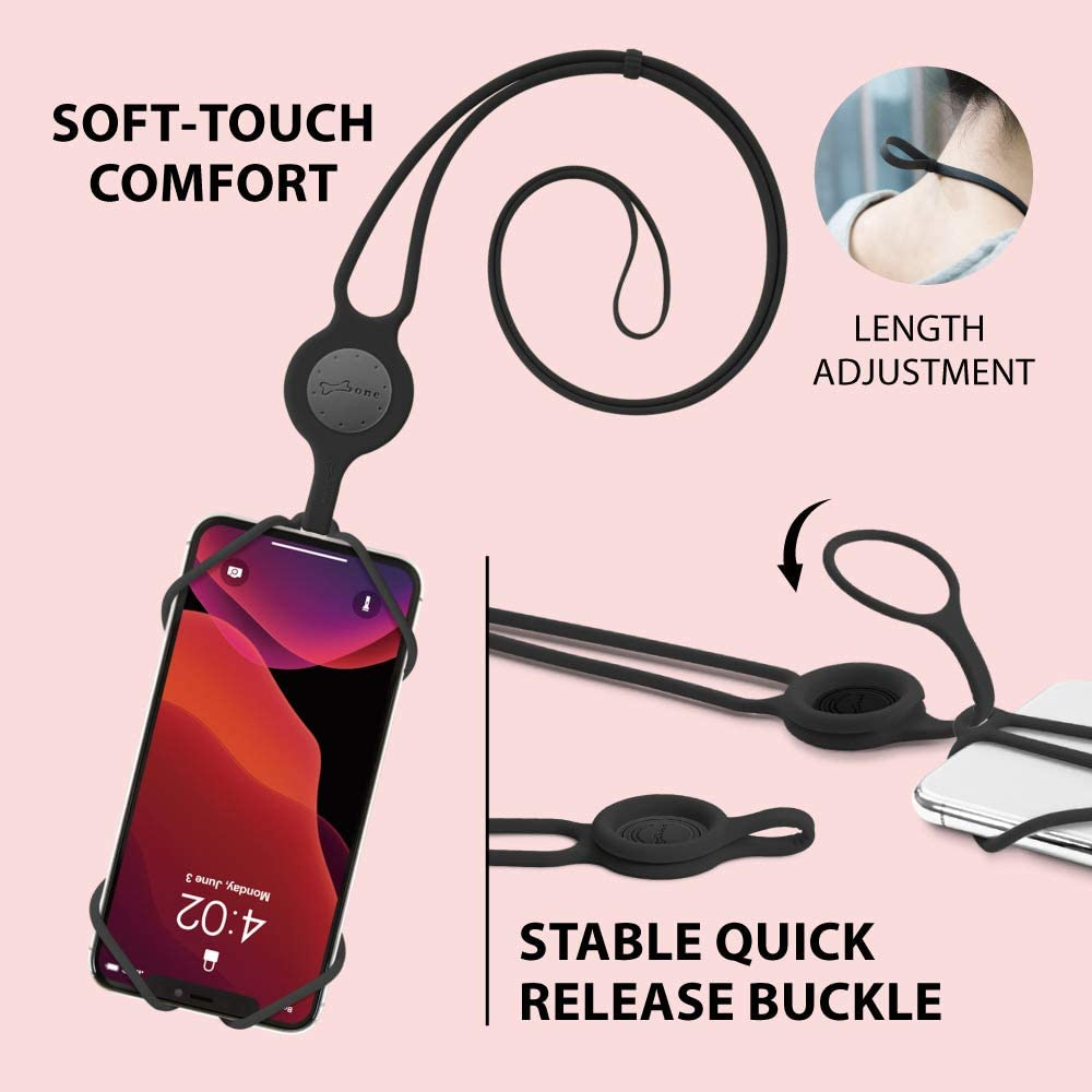 Universal Neck Phone Strap for iPhone 11 Pro Max Bone Cell Phone ...