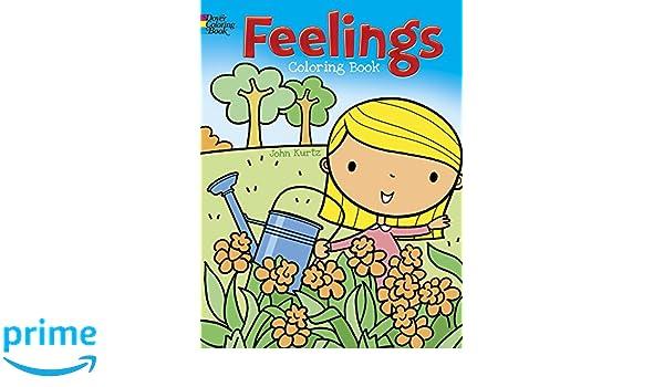 Feelings Coloring Book John Kurtz 9780486807102 Books