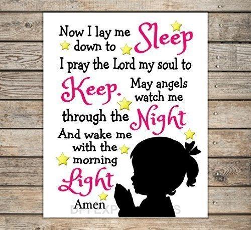 Amazoncom Now I Lay Me Down To Sleep Nursery Art Print Nursery
