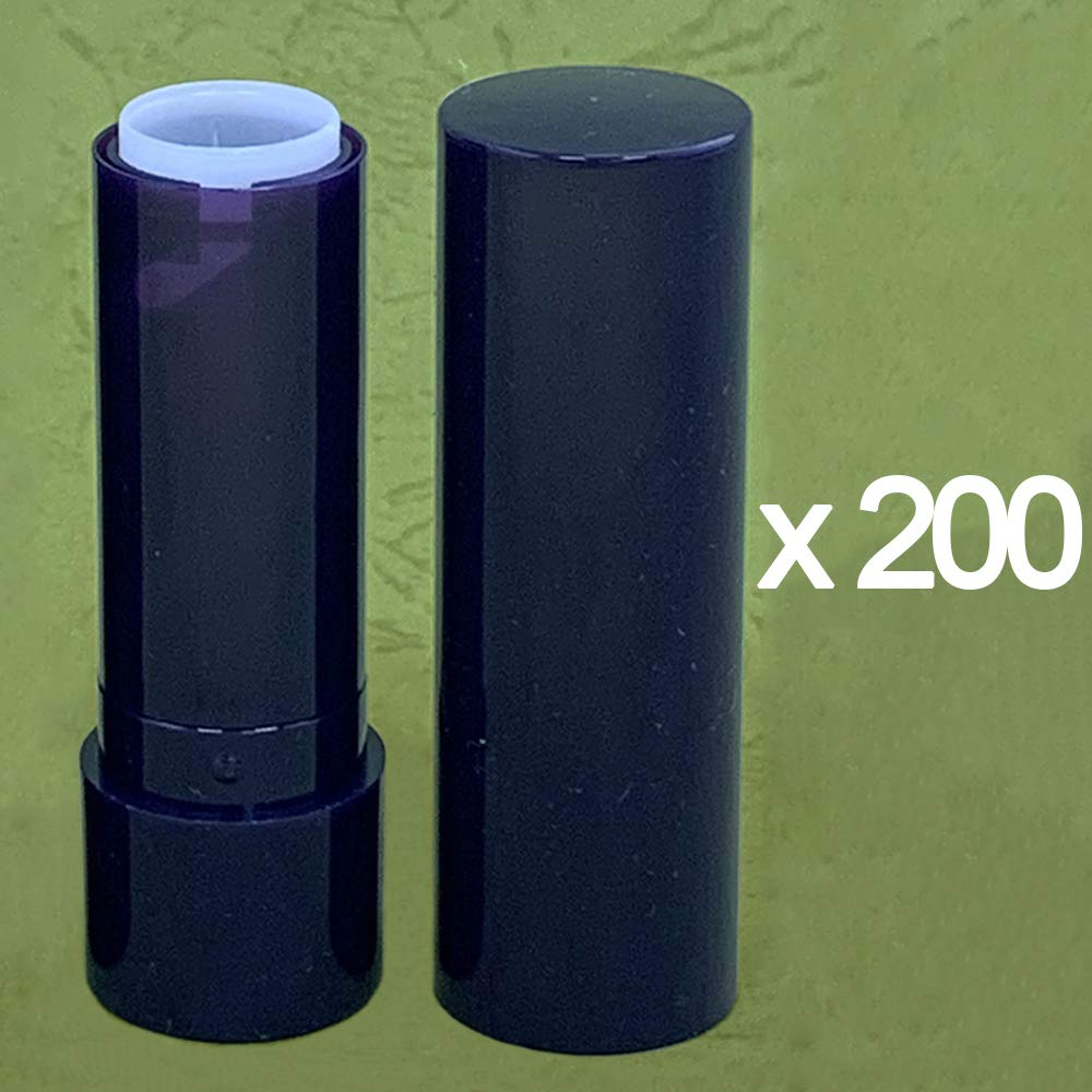 Made in Taiwan Blue Tube and Cap DIY Lip Balm Container Cup Size 12.1mm (Pack of 200)