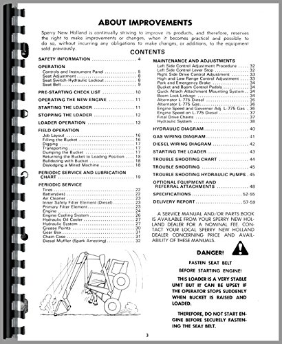 New Holland L775 Skid Steer Operators Manual: New Holland
