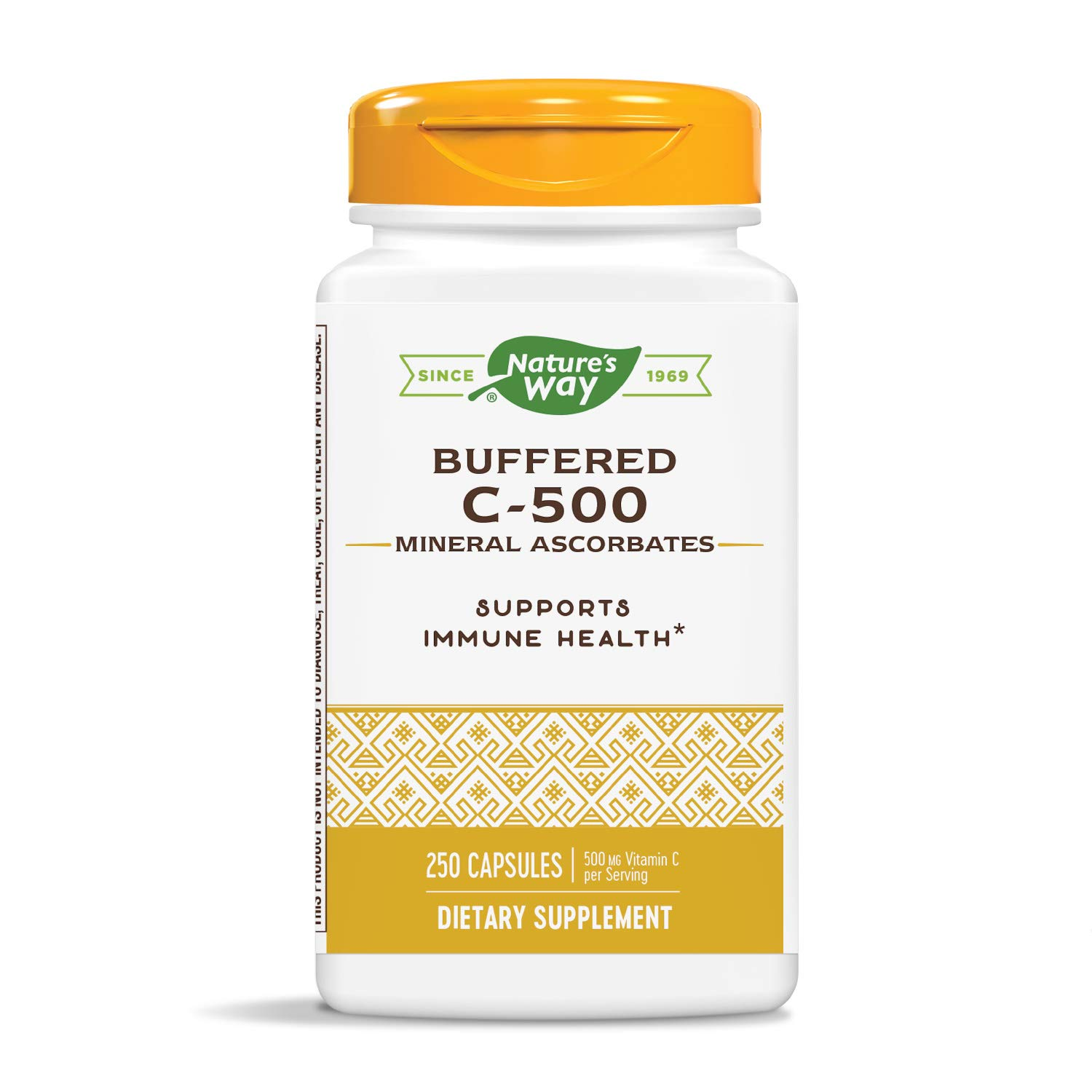 Nature's Way Buffered C 500 Ascorbate, 250 Capsules