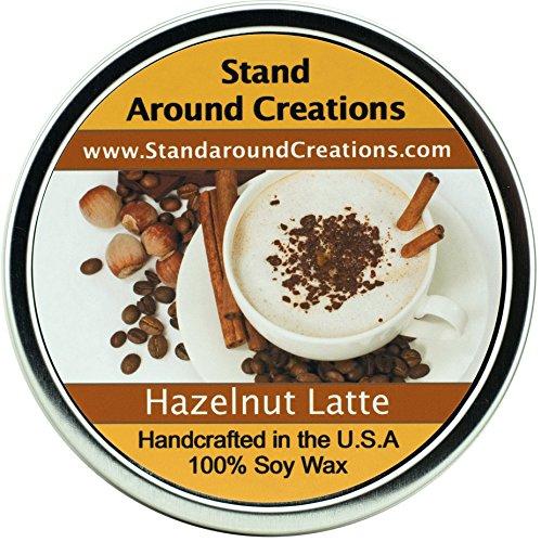 ural Soy Wax Aromatherapy Candle - 16 oz Tin Hazelnut Latte: A nostalgic hazelnut latte blend. (Hazelnut Tart)