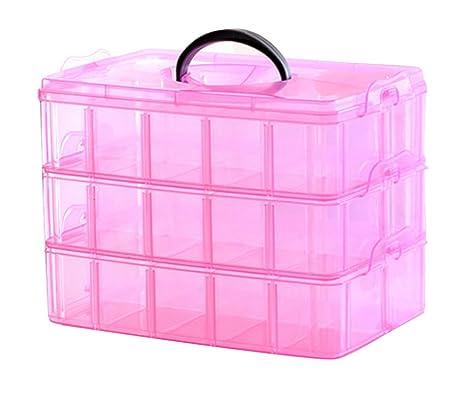 niceeshop (TM) portátil de plástico con 3 capas para ...