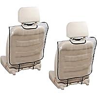 2 Pack Car Backseat Protector Pads, Transparent Waterproof Anti-Kick Anti-Dirty Car Seat Back Mat,Seat Back Protectors…