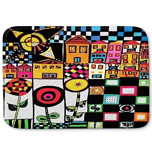 - Dia Noche Memory Foam Bathroom or Kitchen Mats by Dora Ficher - Doodle Day - Large 34 x 21 in