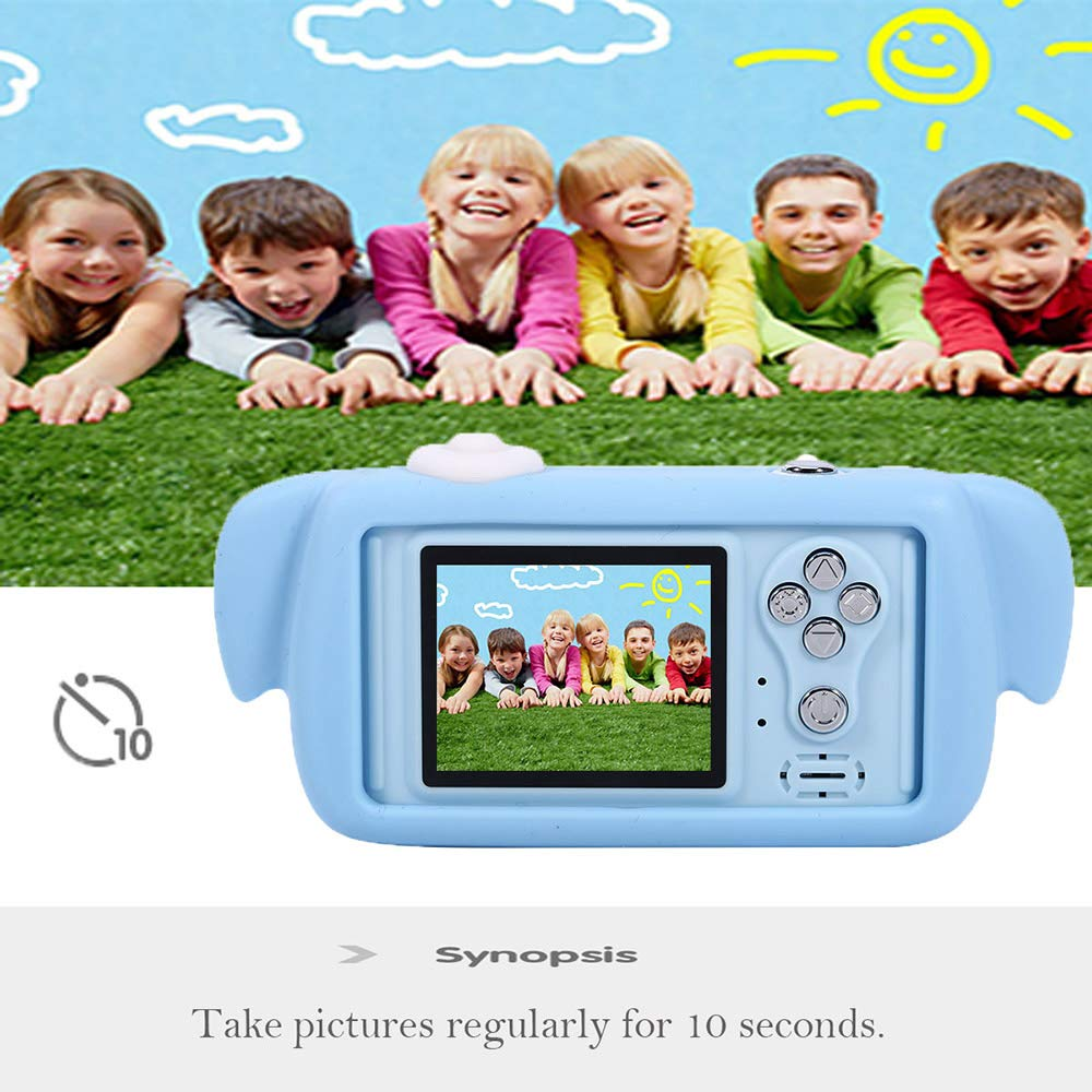 Balee Kids Digital Camera Mini 2 Inch Screen Children's Cameras 8MP HD Video Cameras Camcorder for Girls and Boys Included 16G TF Card and Silicone Soft Cover by Balee (Image #9)