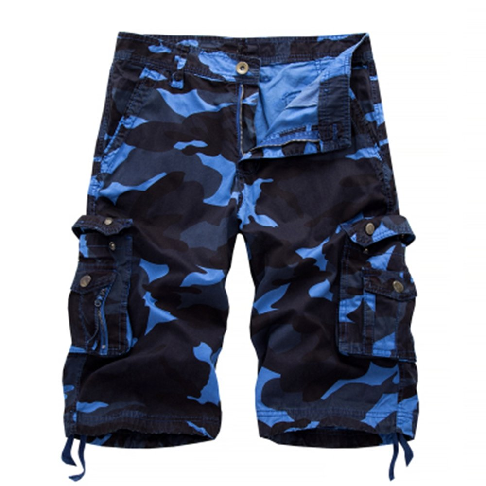 LOG SWIT Men Summer Army Camouflage Shorts Men Cargo Shorts Male Homme Cotton Shorts