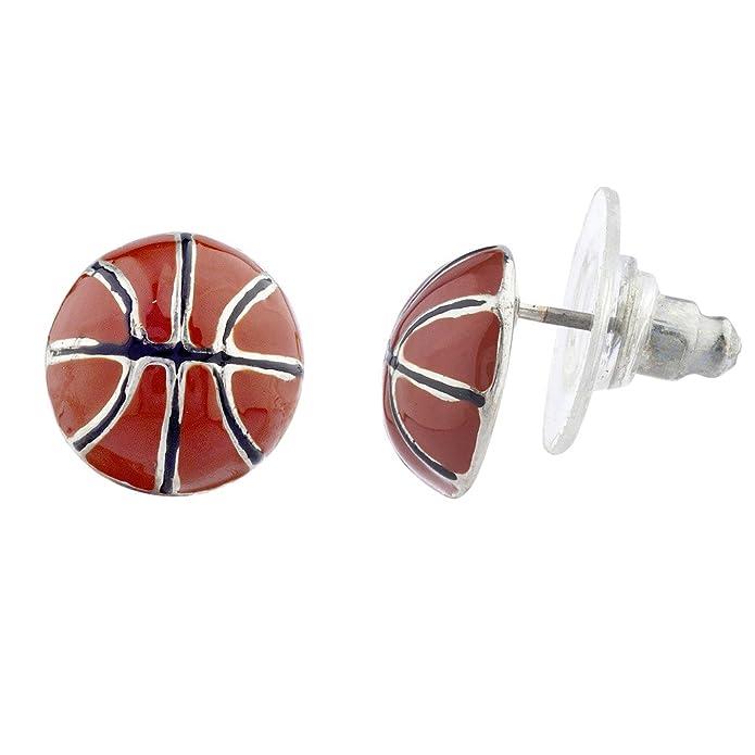 Lux Accessories - Pendientes de balón de baloncesto deportivo ...