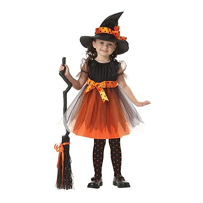 Flying Fish Halloween Costume Little Princess Childu0027s Pretty Witch Costume (Dress + Hat) (  sc 1 st  Amazon.com & Amazon.com: Flying Fish Halloween Costume Little Princess Childu0027s ...